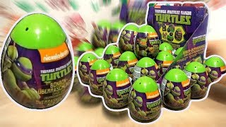 Download Teenage Mutant Ninja Turtles 2 TMNT Movie Nickelodeon 18 Kinder Surprise Eggs Video