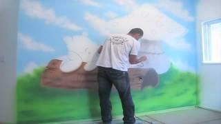 Download ציור קיר בהילוך איטי AIRBRUSH .ART.ARTWALL.WALL Video