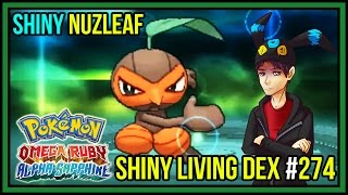 Download SHINY NUZLEAF & SHINY SEEDOT! | Shiny Living Dex #274 | Pokemon Omega Ruby & Alpha Sapphire Video
