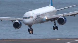 Download HORRIBLE || Very Awful landings | IMPRESSIVE Go arounds B753 A320 B737 || Madeira Video