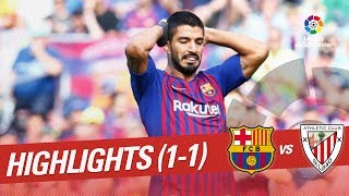 Download Resumen de FC Barcelona vs Athletic Club (1-1) Video