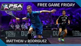 Download Squash: Free Game Friday - Matthew v Rodriguez - World Series Finals 2016 Video
