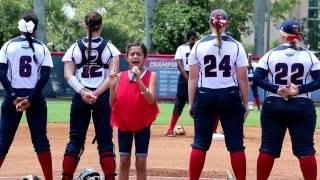 Download Reesey Raygoza Singing National Anthem at FAU Softball Game Video