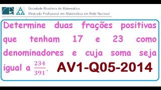 Download (PROFMAT-MA14) Equação DiofantinaPROVA AV1-2014-QUESTÃO 05 RESOLVIDA Video