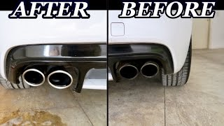 Download How To Clean Exhaust Tips in 30 Seconds With Cheap Household Cleaners!! Video