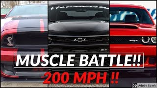 Download Shelby Mustang GT500 vs Dodge Demon vs Camaro ZL1 || Top speed and Acceleration Comparison Video