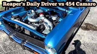 Download Reaper's Daily Driver vs 454 Camaro at the Out of Time No Prep Series Video