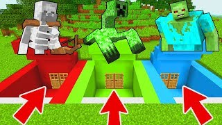 Download Minecraft PE : DO NOT CHOOSE THE WRONG SECRET BASE! (Mutant Creeper, Mutant Zombie, Mutant Skeleton) Video