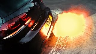 Download VW Golf R shooting LOUD FLAMES! Video