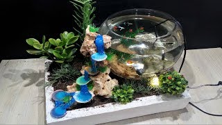 Download DIY Aquarium with Hot glue waterfall Video