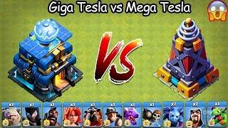 Download Giga Tesla vs Mega Tesla Clash of Clans Ultimate   Max Giga Tesla vs Max Mega Tesla COC Video