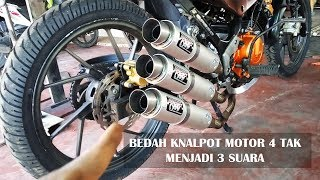 Download CARA MODIFIKASI KNALPOT MOTOR 4 TAK - GALAK !!! Video