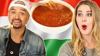 Download People Try Hungarian Food For The First Time Video