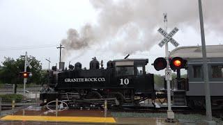 Download [New E-Bell] Granite Rock Co. 10 SSRR Excursion Train, R St. Pedestrian Crossing, Sacramento CA Video