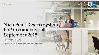 Download SharePoint Developer Monthly Community Call - September 2018 Video