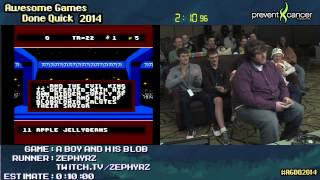Download A Boy and His Blob :: SPEED RUN (0:02:10) [NES] Live by Zephyrz #AGDQ 2014 Video