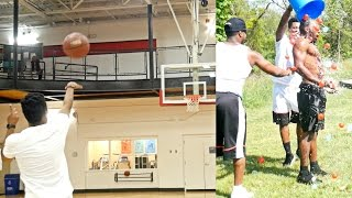 Download HALF COURT SHOTS ONLY CHALLENGE! LOSER HAS TO GET HIT WITH 100 WATER BALLOONS! Video