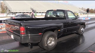 Download He Put a Cummins DUALLY on a Full SLICK and Sent it! Video