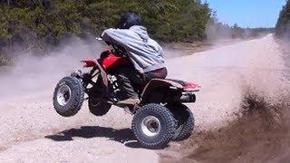 Download Nice QuadRide & Honda 400Ex Donuts & Wheelies Video