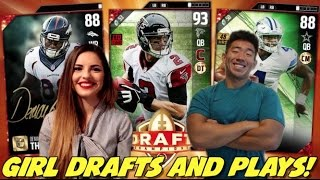 Download GIRL DRAFTS AND PLAYS! BEST DRAFT I'VE SEEN! MADDEN 17 DRAFT CHAMPIONS Video