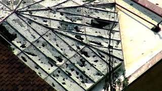 Download Aerial view of hail damage at Cheyenne Mountain Zoo Video