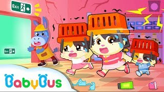 Download Run! Earthquake Happens in Supermarket | Kids Safety Tips | Baby Kitten Family | Kids Song| BabyBus Video