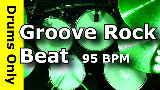 Download Backing Track - Groove Rock Drum Beat 95 BPM - JimDooley Video