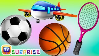Download Surprise Eggs Nursery Rhymes Toys | Three Little Kittens - Games | Learn Colours & Sports Equipments Video
