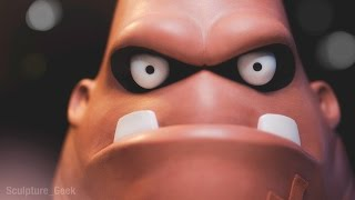 Download Sculpting King Hippo from Punch Out!! Traditionally - Sculpture Geek Video