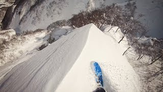 Download Travis Rice rides an epic spine line in Japan Video