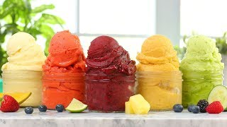 Download 5 EASY Fruit Sorbets | Dairy Free Summer Desserts! Video