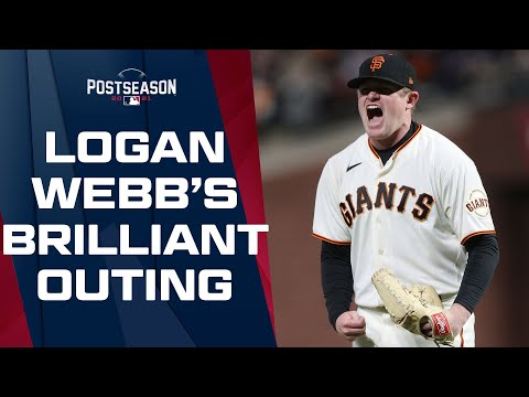 Logan Webb with an ABSOLUTELY STELLAR pitching performance! Shuts out Dodgers through 7.2 innings!