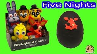 Download Five Nights At Freddy's Plush & Surprise Playdoh Egg & 3 FNAF Blind Bag Box Video