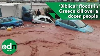 Download 'Biblical' floods in Greece kill over a dozen people Video