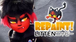 Download Repaint! Litten Pokemon OOAK Doll NerdECrafter Collaboration Video