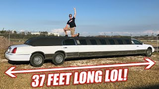 Download I Bought a Freaking GIGANTIC Cheap Limo and It's Amazing... (TRIPLE AXLE lol) Video