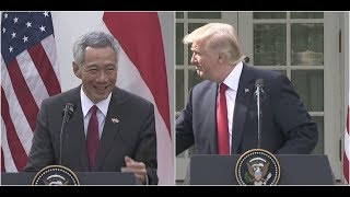 Download Singapore Prime Minister STUNS President Trump at Joint Press Conference Video