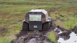 Download Вездеход Шерп засадили дважды. Russian ATV Sherp stuck down twice in Russian mud in swampy tundra Video