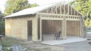 Download Building your own 24'X24' garage and save money. Steps from concrete to framing. Video