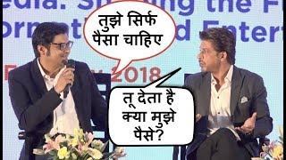 Download Shahrukh Khan FIGHTS With Arnab Goswami For INSULTING Him In Public Video