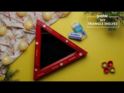 Gobble | DIY Triangle Shelves | How To Make Triangle Shelves | Diwali Decoration | DIY Decoration