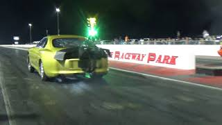 Download Turbo Supra hits the wall vs Orange Mustang at Redemption 14 8 25 Video