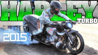 Download World's Fastest Turbo Harley Davidson motorcycle racing Man Cup 2015 Video