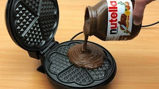 Download EXPERIMENT WAFFLE IRON vs NUTELLA Video
