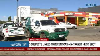 Download Suspects linked to recent spate of cash-in-transit heists shot Video
