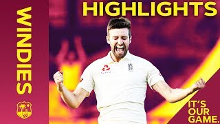 Download Mark Wood Heaps Pressure On Windies | Windies vs England 3rd Test Day 2 2019 - Highlights Video