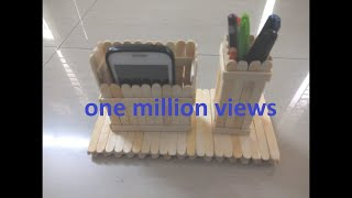Download DIY: How to make mobile phone and pen stand using ice cream sticks/ popsicle sticks Video