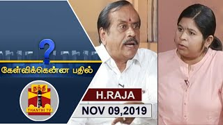 Download (09/11/2019)Kelvikkenna Bathil | Exclusive Interview with H.Raja, BJP National Secretary Video