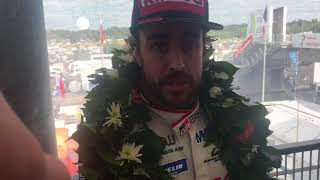 Download Fernando Alonso luego del triunfo en las 24 Horas de Le Mans Video