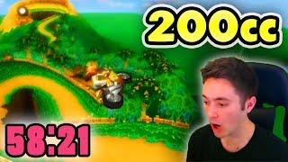 Download Mario Kart Wii - 200cc All Tracks Speedrun - 0:58:21 (No Ultra Shortcuts) Video